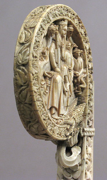 Ivory Crozier Head with Christ in Majesty and Throne of Wisdom