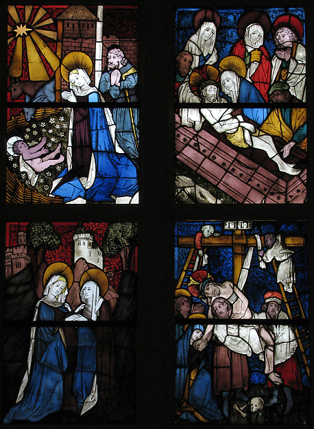 Stained Glass Panel with the Visitation