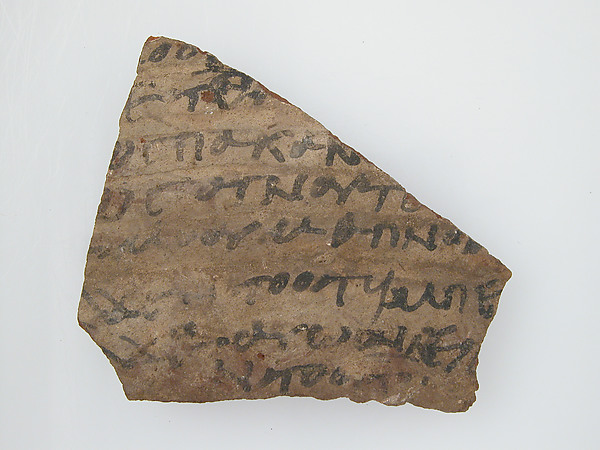 Ostrakon with a Letter to Epiphanius from His Mother