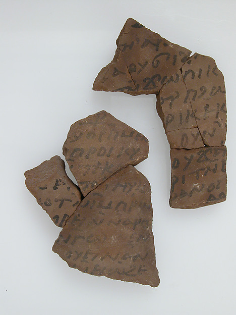 Ostrakon with a Letter to Stephen