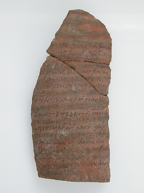 Ostrakon with a Letter from Lazarius to Epiphanius