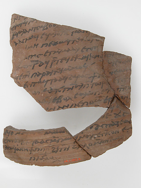 Ostrakon with a Letter from Hello to Joseph