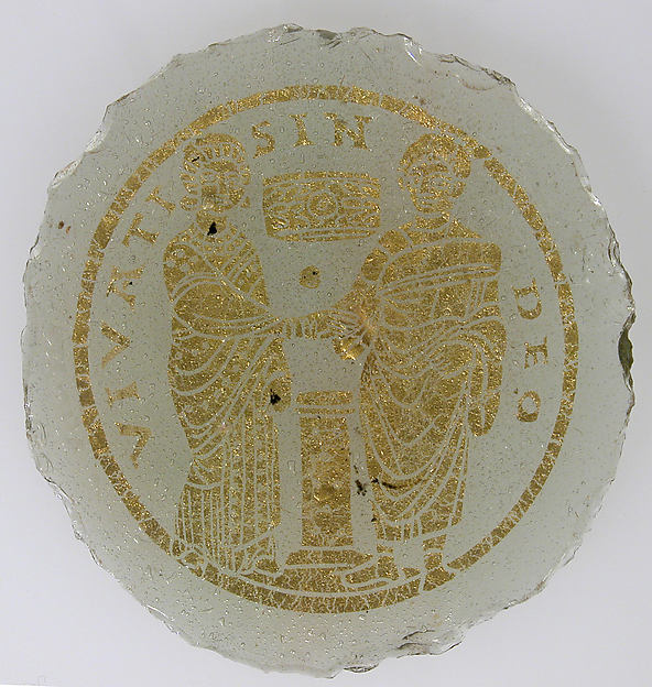 Bowl Base with a Marriage Scene