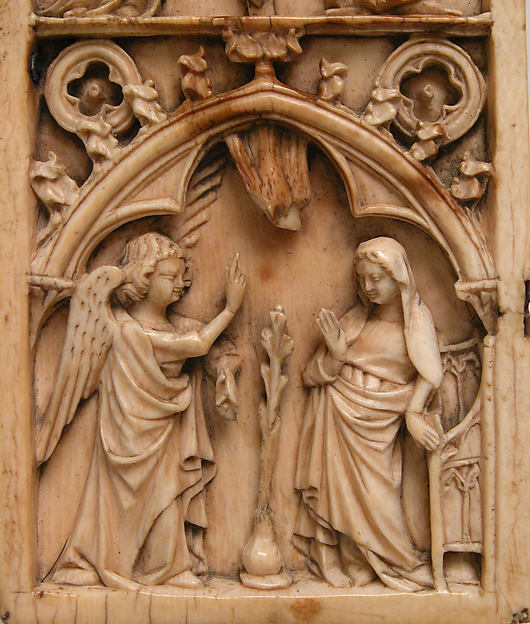 Leaf from a Diptych with the Crucifixion and Annunciation
