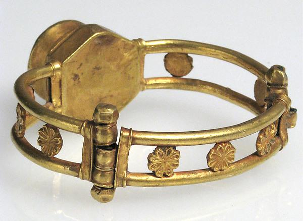 Gold and Niello Bracelet