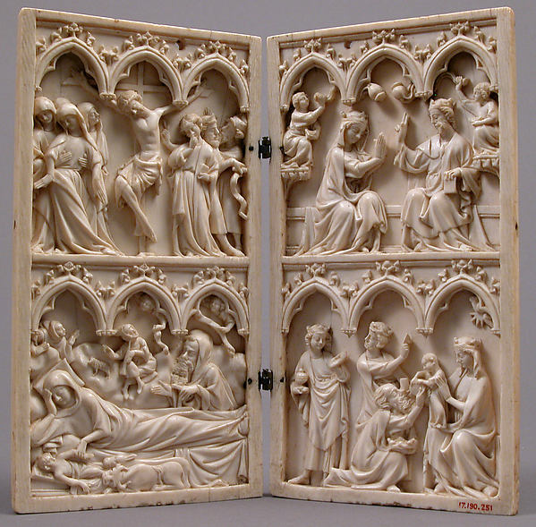 Diptych with Scenes from the Lives of Christ and the Virgin