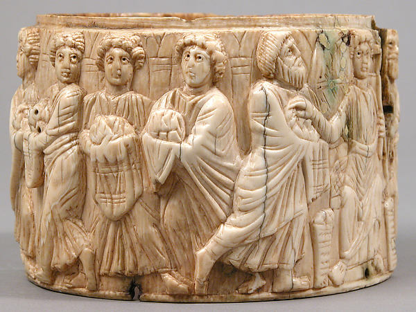 Pyxis with the Miracle of Christ's Multiplication of the Loaves