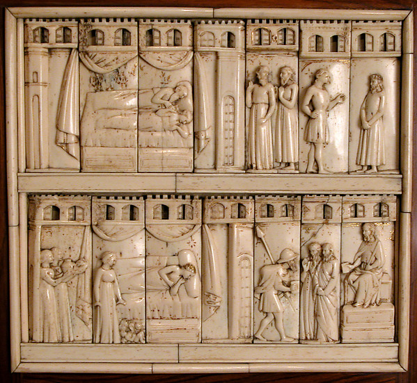Panels from Two Caskets