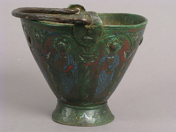 Situla (Bucket for Holy Water) with Saint Peter and Other Saints, Probably Apostles