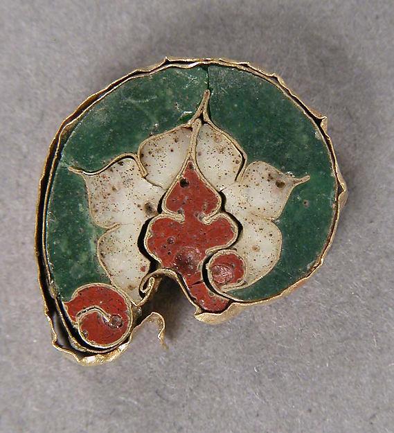 Fragment with a Leaf Motif