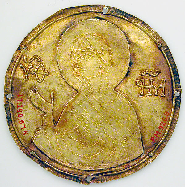 Medallion with the Virgin from an Icon Frame