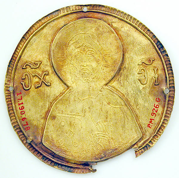 Medallion with Christ from an Icon Frame