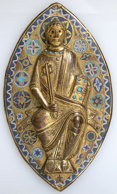 Plaque with Saint Peter in Glory