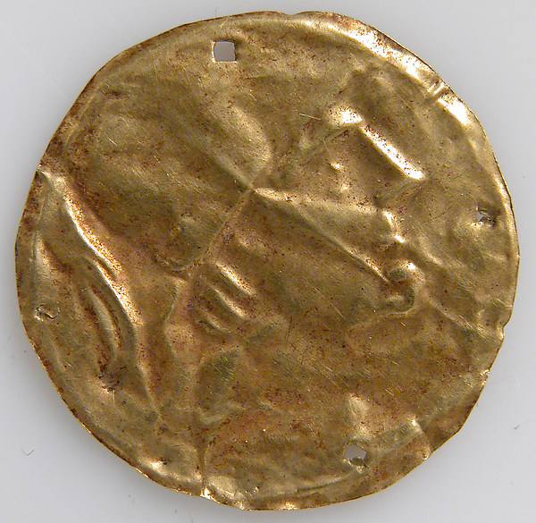 Bracteate with Human Head