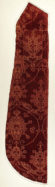 Textile with Pomegranate Motif