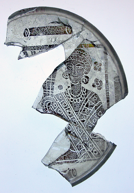 Fragmentary Bowl Base with the Portrait of a Woman