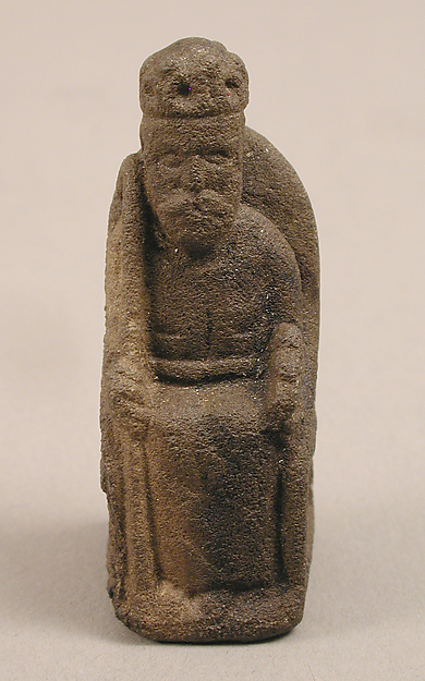 Game Piece in the Form of an Enthroned King