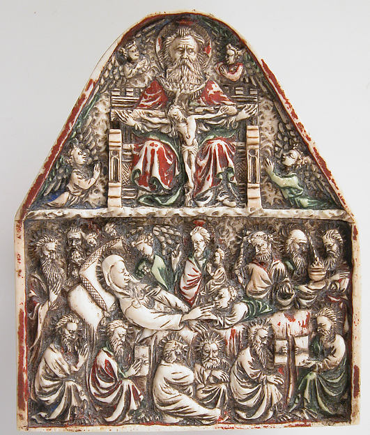 Plaque with the Trinity and the Dormition of the Virgin