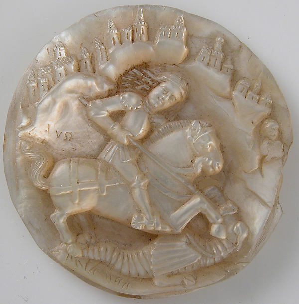 Medallion with Saint George Slaying The Dragon