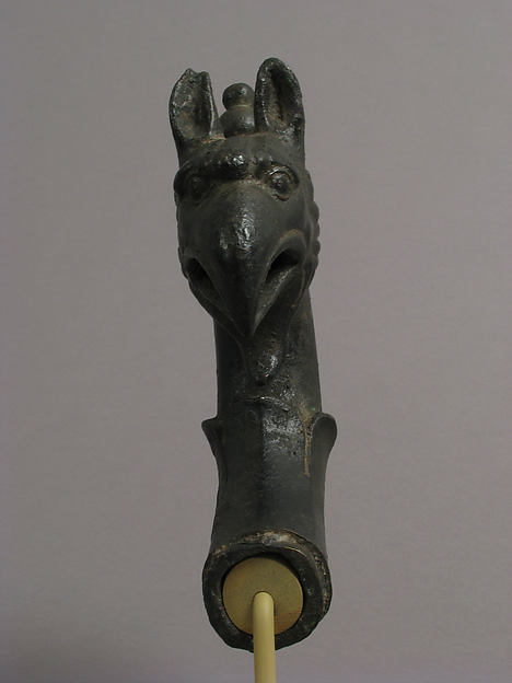 Lamp Handle with a Griffin's Head