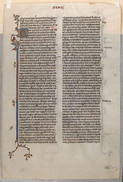 Manuscript Leaf from a Bible