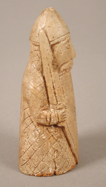 Chess Piece of a Berserker (Copy of one of the Lewis Chessmen)