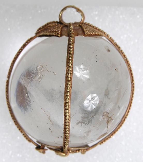 Rock Crystal Amuletic Sphere Pendant