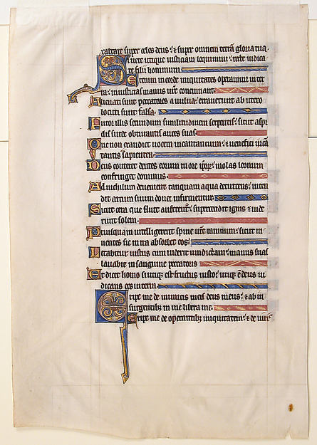 Manuscript Leaf from a Royal Psalter