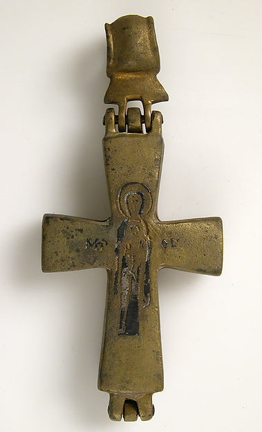 Reliquary Cross with Christ Crucified and the Virgin and Child