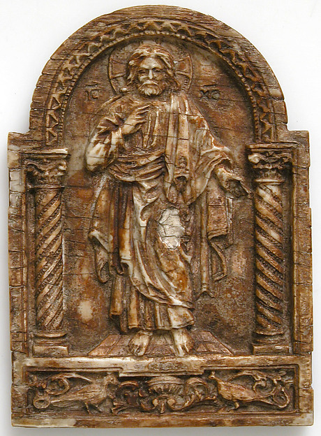 Plaque with Christ Teaching