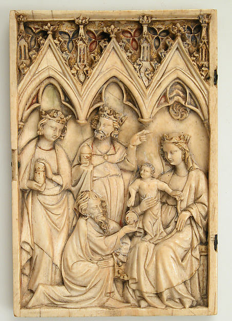 Leaf from a Diptych with the Adoration of the Magi