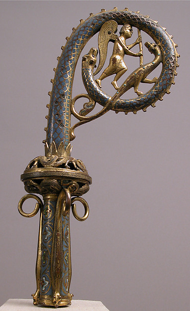 Crozier Head with Saint Michael Slaying the Dragon