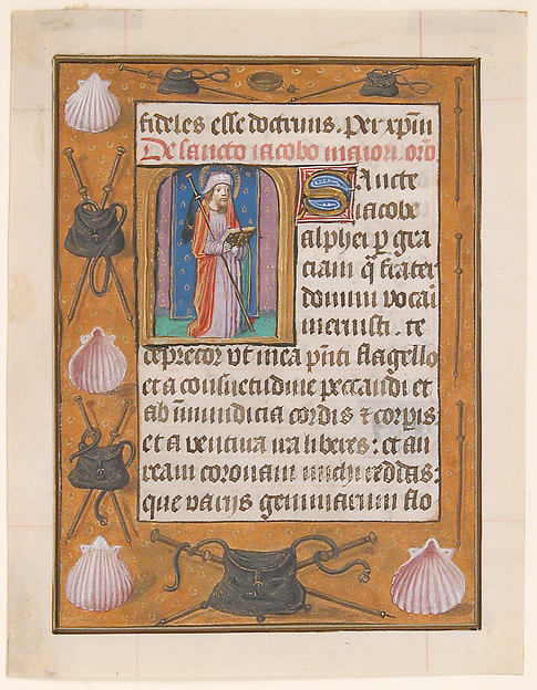 Manuscript Leaf with Saint James the Greater, from a Book of Hours