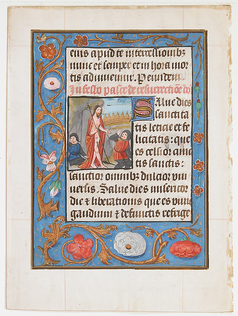 Manuscript Leaf with the Resurrection, from a Book of Hours