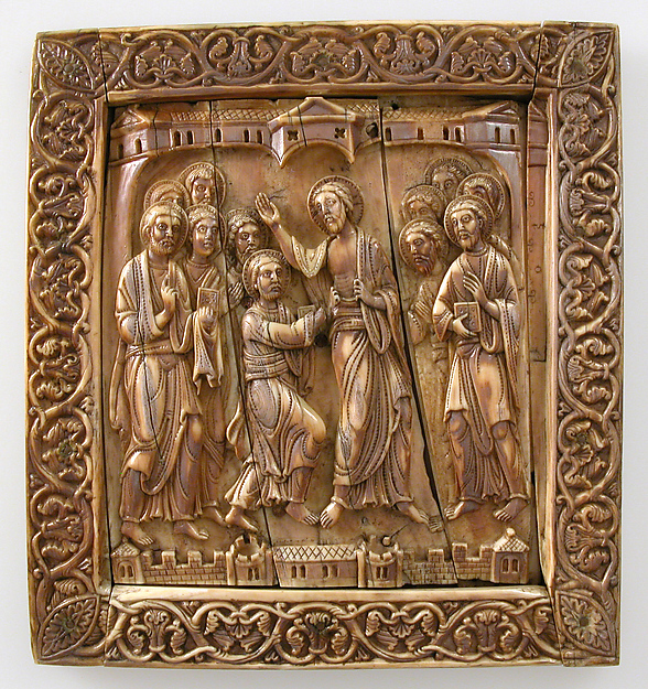 Plaque with Doubting Thomas