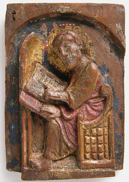 Miniature Relief of an Evangelist at His Writing Table (John, Luke, Mark)