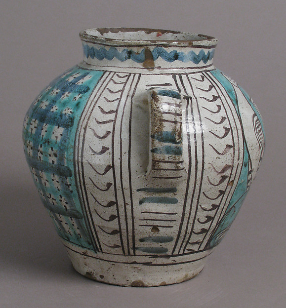 Two-Handled Jar with Birds and a Coat of Arms
