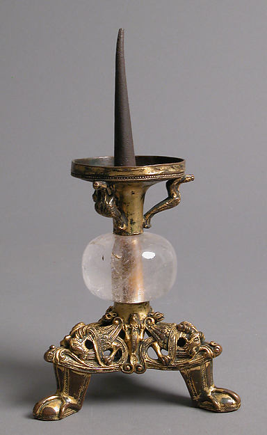 Pricket Candlestick with Fantastic Creatures