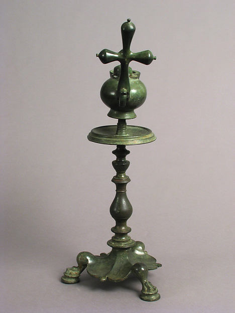 Standing Lamp with a Cross on a Pricket Stand