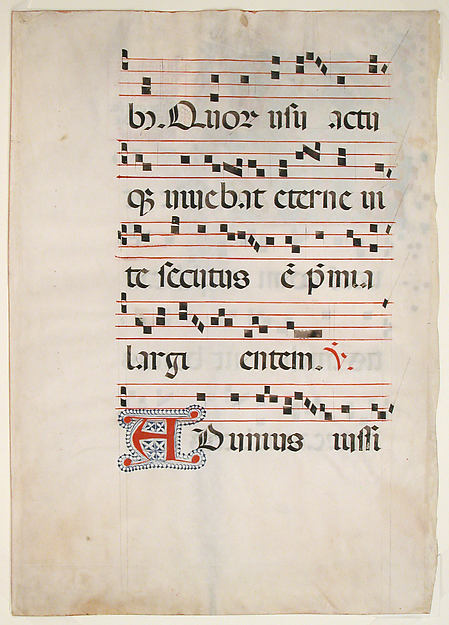 Manuscript Leaf with the Feast of Saint Andrew in an Initial M, from an Antiphonary