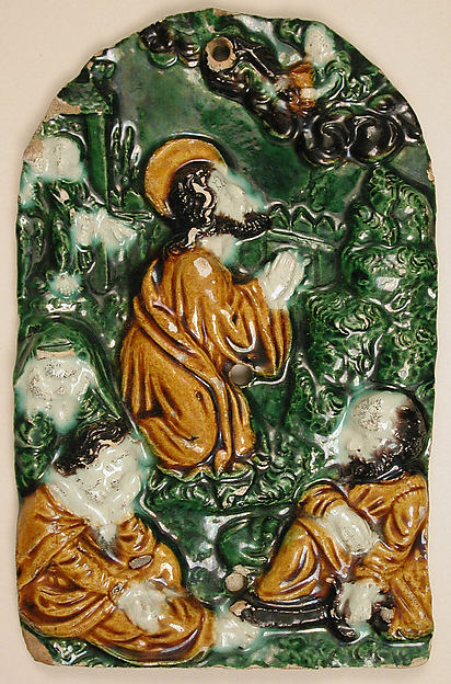 Plaque, Christ and Disciples at Gethsemane