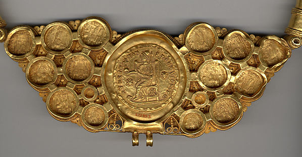 Pectoral with Coins and Pseudo-Medallion