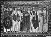 Emperor Justinian and Members of His Court