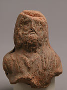 Head of Beadered Man