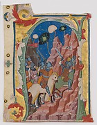 Initial A with the Battle of the Maccabees