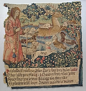 Old Age Drives the Stag out of a Lake and the Hounds Cold, Heat, Anxiety, Vexation, Heaviness, Fear, Age, and Grief Attack Him, (from The Hunt of the Frail Stag)