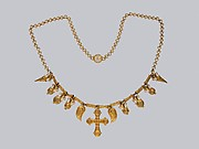 Gold Necklace with Ornaments