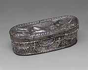 Silver box with sleeping Eros