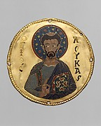 Medallion with Saint Luke from an Icon Frame