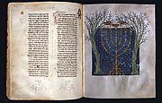 Hebrew Bible: Menorah of Zechariah&#39;s Vision (fols. 316v-317)